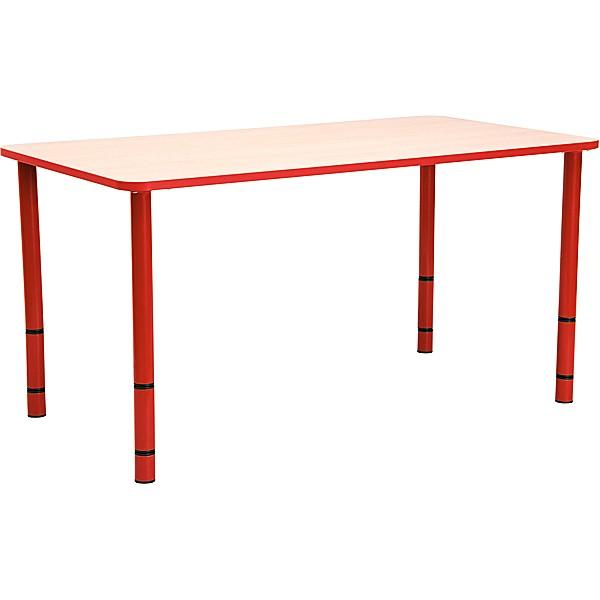 Table enfant rectangle réglable - de 40 à 58 cm