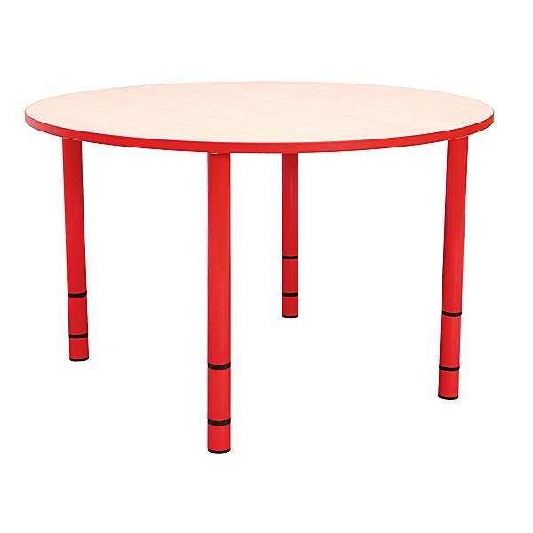 Table enfant ronde réglable - de 40 à 58 cm