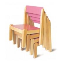 Lot de 4 chaises empilables crèche