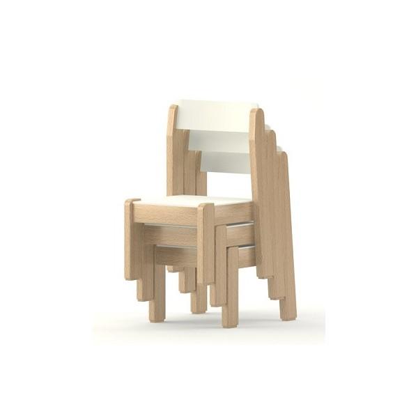 Lot de 4 chaises empilables maternelle