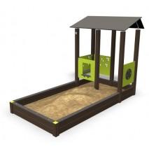 Bac à sable cabane