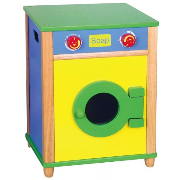 Jeu maternelle - Machine à laver en bois enfant