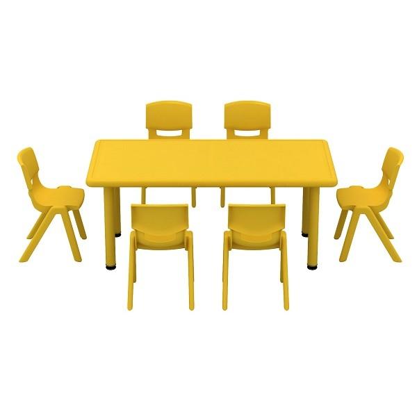 Table d'activité rectangle et chaises