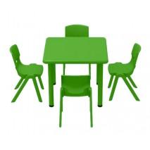 Table d'activité carrée et chaises