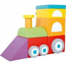 Train en mousse 15 pièces