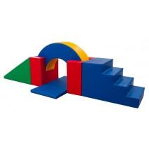 Parcours de motricité avec un pont (6 modules)