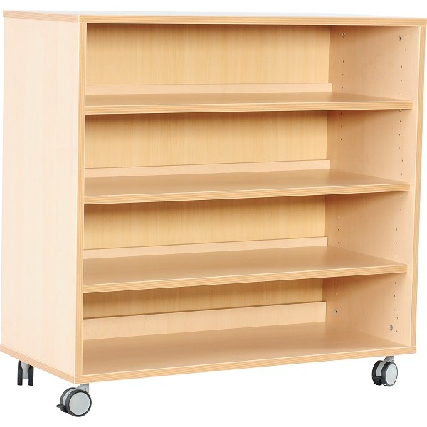 meuble avec etageres et roulettes
