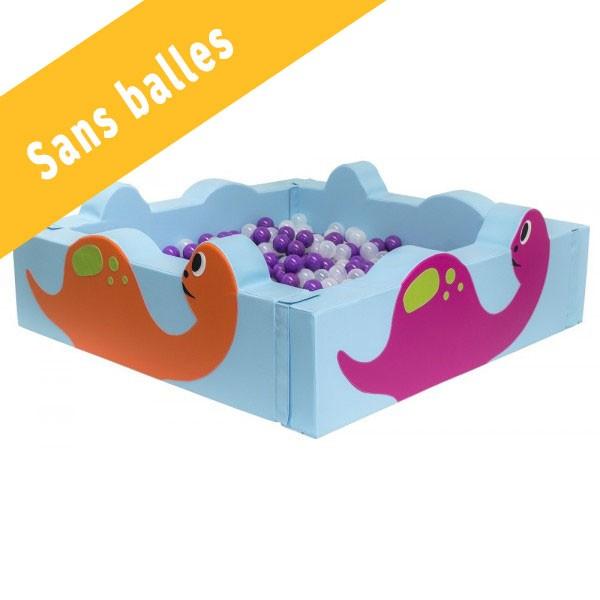 Piscine à balles carrée - motif dinosaures