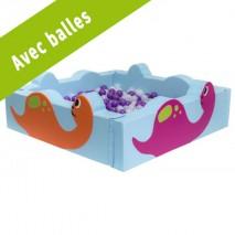 Grande piscine à balles - motif dinosaures - Avec balles