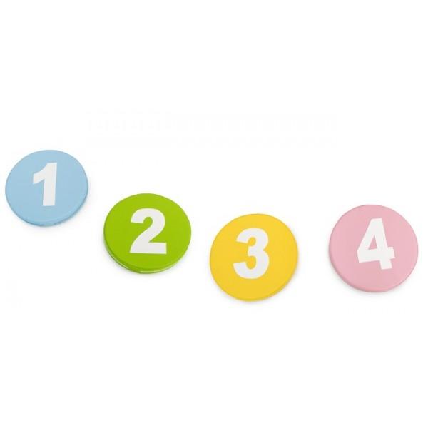 Lot de 4 galettes crèches - Motifs nombres