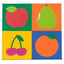 Tapis sol enfant fruits
