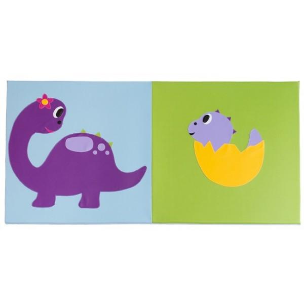 Tapis crèche - motif dinosaure et son bébé