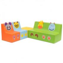 Ensemble mobilier mousse maternelle - Motifs animaux