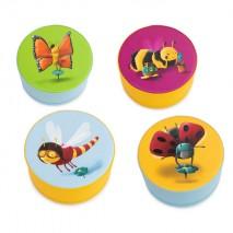 4 poufs en mousse – Motifs insectes