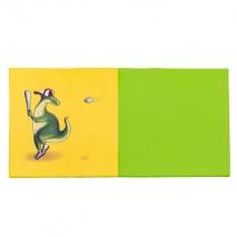 Tapis éveil bicolore - motif dinosaure baseball