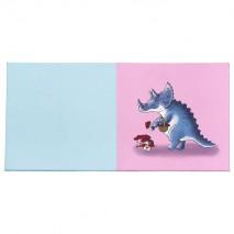 Tapis d'éveil 2 couleurs - motif dinosaure champignons