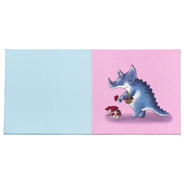 Tapis éveil 2 couleurs - motif dinosaure champignons