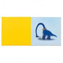 Tapis de motricité 2 couleurs - motif dinosaure dans son jardin