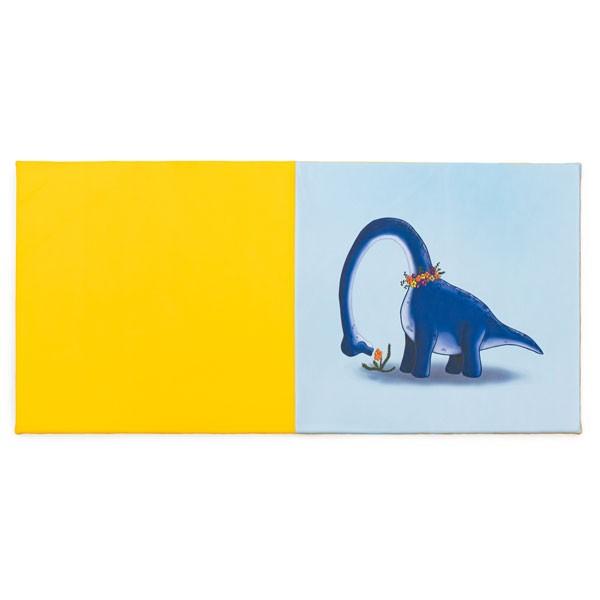 Tapis motricité - motif dinosaure jardin