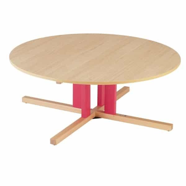 Table ronde avec pied central creche - maternelle