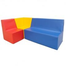Ensemble fauteuils et canapé en mousse