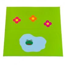 Tapis enfant mousse prairie avec grenouille