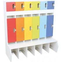 Vestiaire maternelle - primaire avec portes
