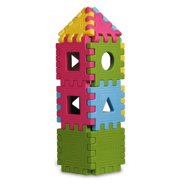 Pack 24 pièces de construction carrées