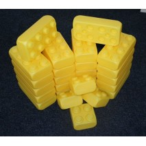 Brique géante type LEGO - Couleur jaune