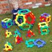 Jeu Polydron géant avec pentagones