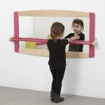 Miroir 120 x 60 cm et barre de maintien