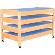 Lot - Lit maternelle en bois X 4