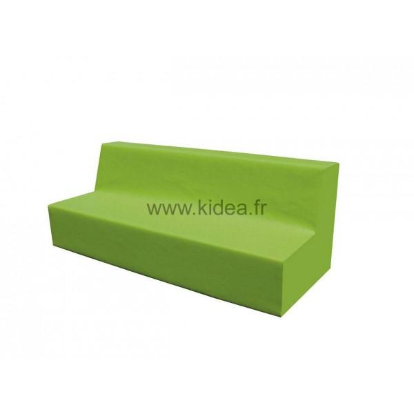 Canapé 4 places en mousse avec dossier