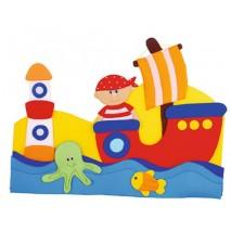 Décoration murale en tissu - Pirate