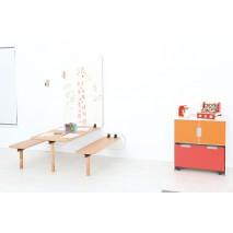 Pack table et bancs muraux enfants - Taille de 1 à 4