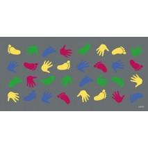 Tapis jeu mains - pieds