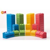 Pack 64 briques de construction souples