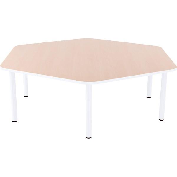 Table hexagonale crèche fixe