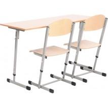 Ensemble bureau et chaises - T3 à T4