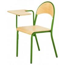 Pack de 4 chaises avec tablette fixe