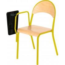 Lot 4 chaises avec tablette pivotante