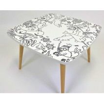 "Table à dessin enfant ""Mer"""