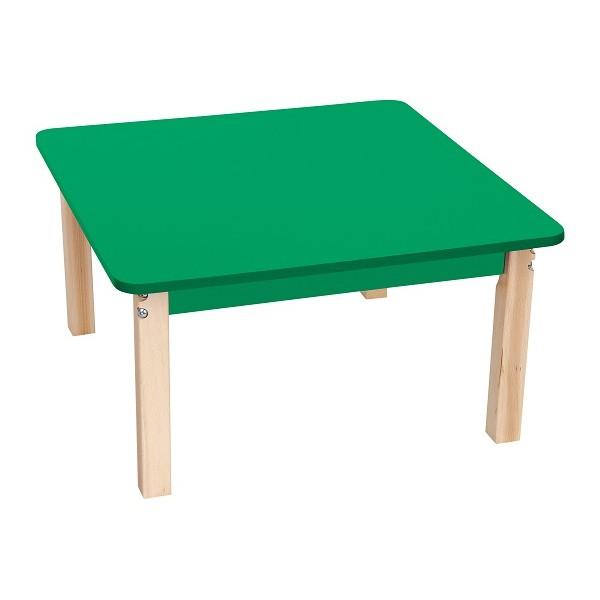 Table carrée colorée - de 40 à 58 cm