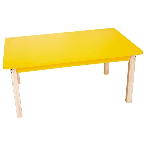 Table rectangulaire colorée collectivité