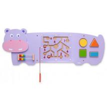 Grand jeu mural hippopotame