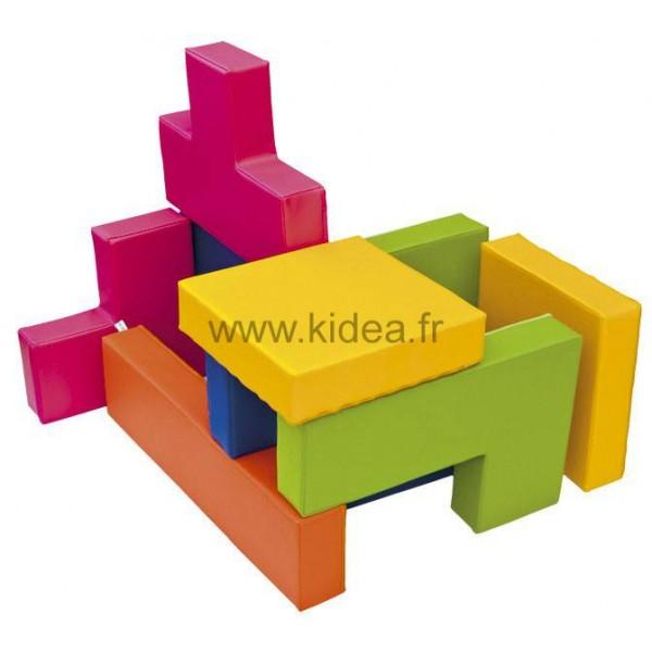 Jeu en mousse Tetris (10 pièces)