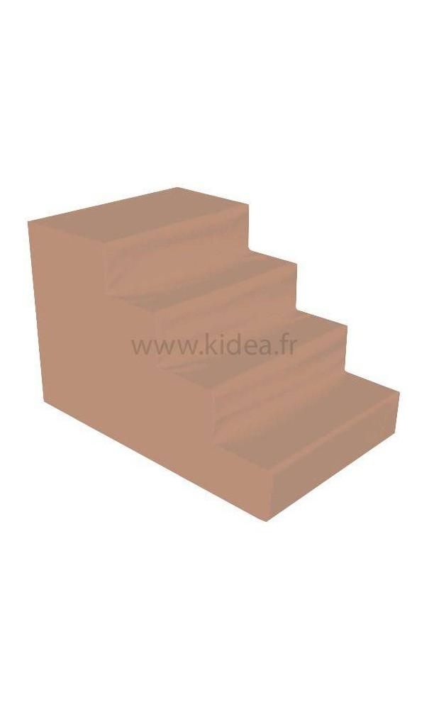 escalier 4 marches de motricit kidea. Black Bedroom Furniture Sets. Home Design Ideas