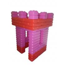 Assortiment 3 - 128 briques géantes rouge et rose