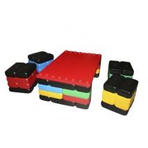 Table et 4 assises en briques XL