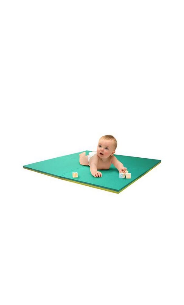 Tapis en mousse eva en vert et jaune - Dalle mousse piscine ...